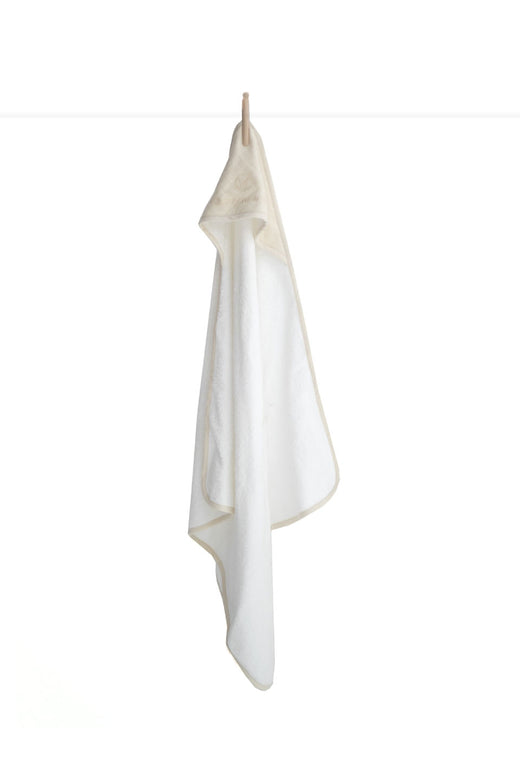 Organic Cotton Baby Almond Hooded Towel