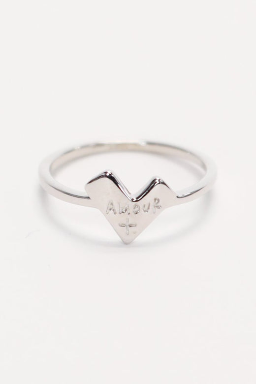 Amour Heart Ring Sterling Silver