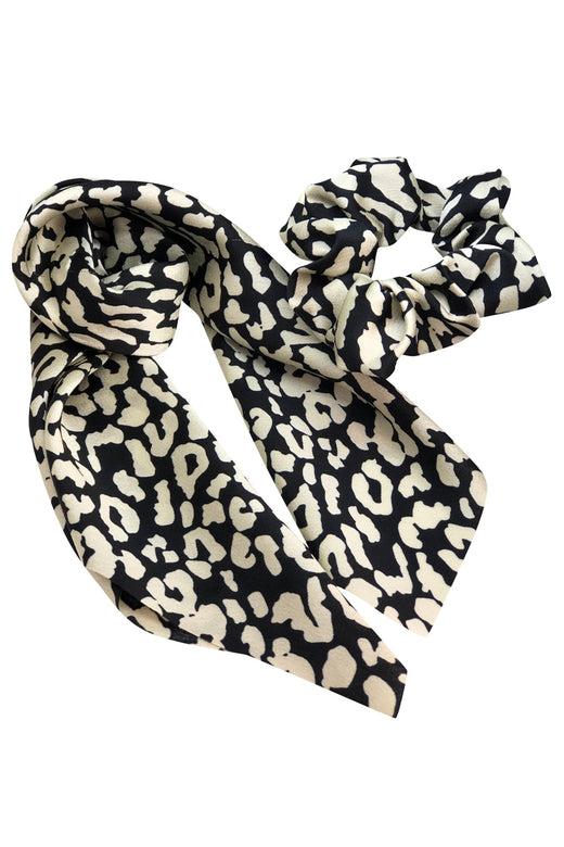 Animal Print Scrunchie Scarves