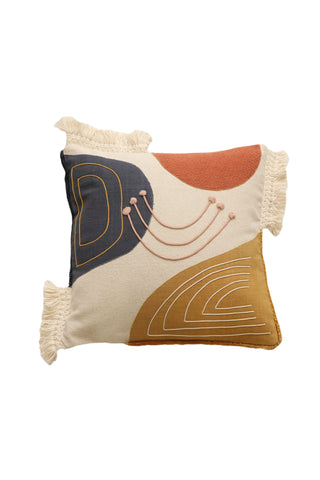 Artiste Multi Natural with Tassel Cushion 45x45cm