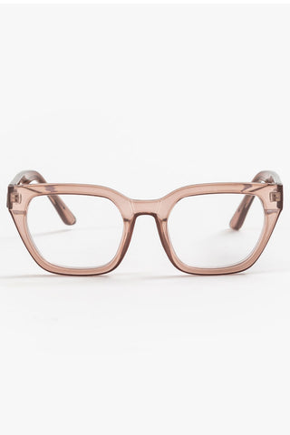 Ava Beige Transparent Reading Glasses