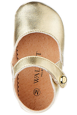 BABIES Maggie Leather Gold Mary Jane Shoe