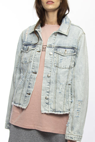 Be Frankie Collection Blue Denim Script Jacket