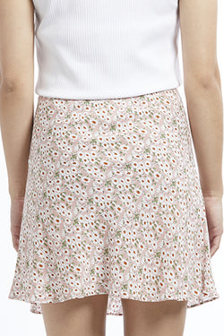Loyal Pink Blossom Mini Bias Skirt
