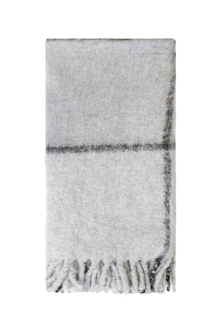 Bliss Grid Bumble Grey Throw 130x170