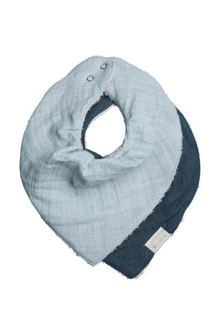 Organic Cotton Sea Bandana Bib Set2