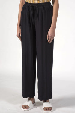 Beach Black Wide Leg Pants