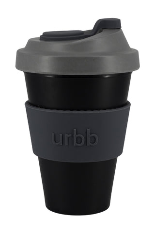 Reuseable Bamboo Black Grey Cup