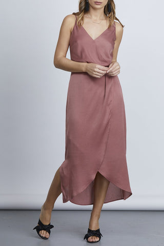 Joyful Midi Tulip Nutmeg Dress
