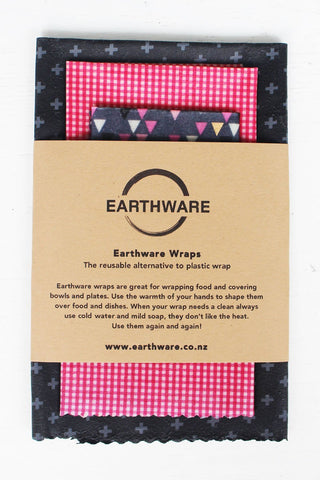 Earthware Reuseable Food Wraps Pk3