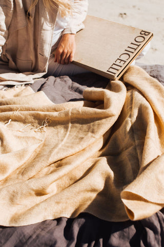 Hand Woven in Nepal Butterscotch Blanket
