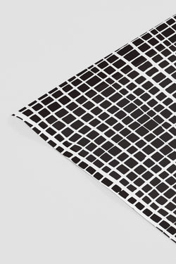 Black + White Grid Gift Wrap Sheets