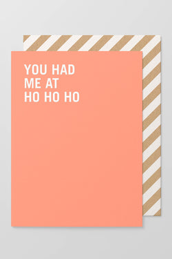 You Had Me At HoHoHo Christmas Greeting Card Pk6