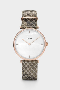 Triomphe Rose Gold Soft Almond Python Watch