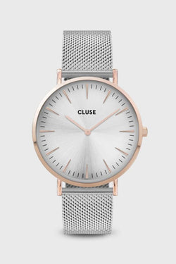 LaBoheme Silver Mesh Strap with Rose Gold Watch