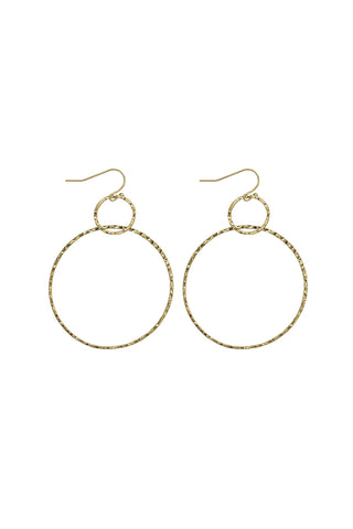 Catalina Pressed Metal Gold Hoop Earrings