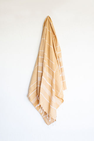 Classic Mustard Turkish Towel Lrg