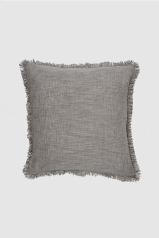 Hand Loomed Khadi Donkey Grey Square Cushion 55x55cm