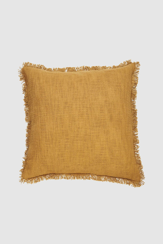 Hand Loomed Khadi Ginger Square Cushion 55x55cm
