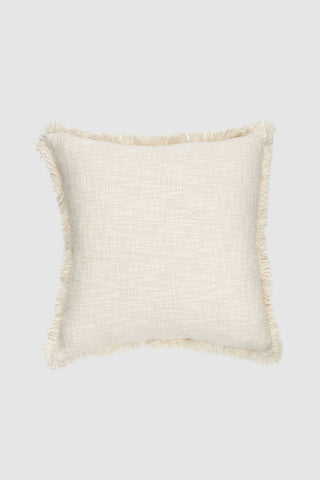 Hand Loomed Khadi Natural Square Cushion 55x55cm