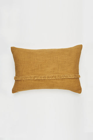 Hand Loomed Khadi Ginger Lumbar Cushion 40x60cm