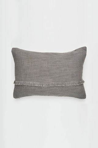Hand Loomed Khadi Donkey Grey Lumbar Cushion 40x60cm