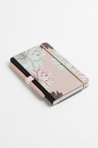 Mini Notebook and Pen Pink Clove Pink Floral