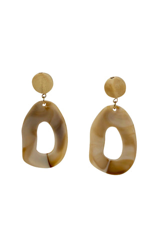 Cream Resin Earrings