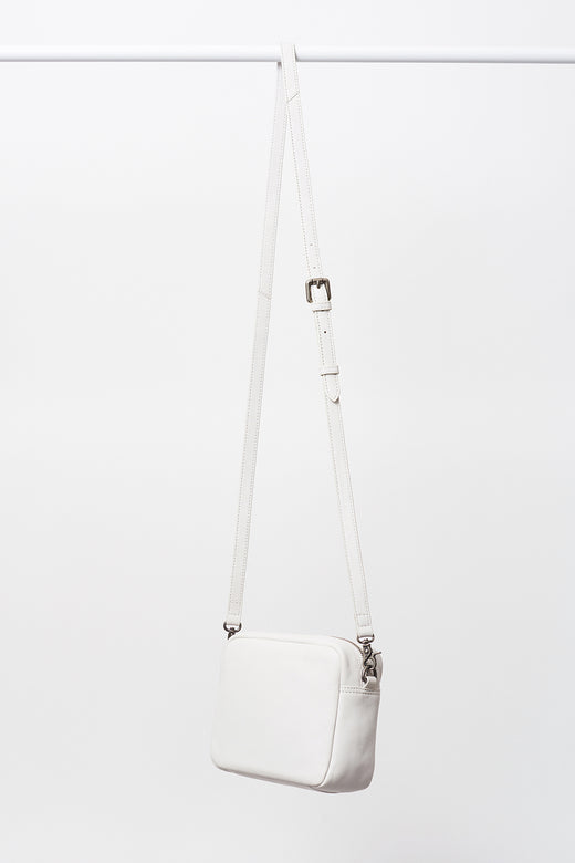 Trent Small Rectangle Zip Chalk Shoulder Bag