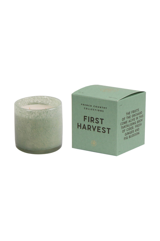 First Harvest Glass Candle Sea Green