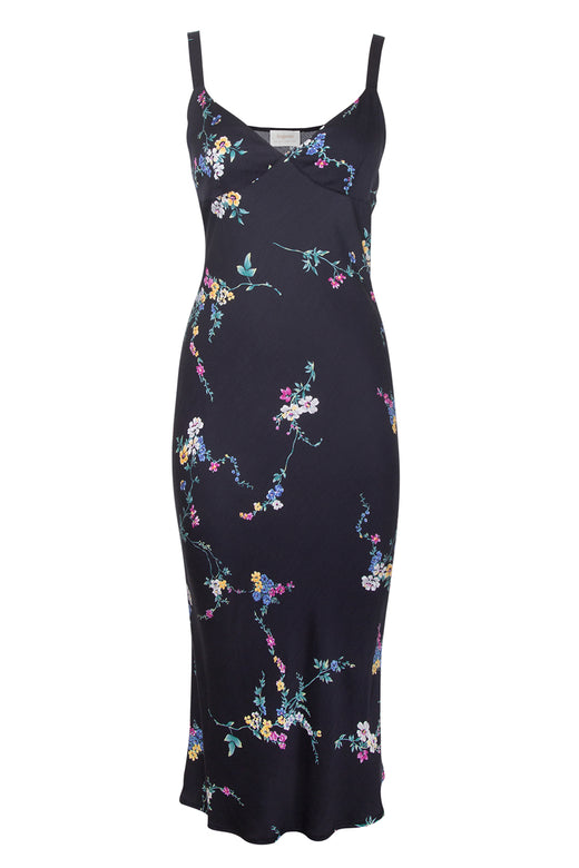 Dawn Spencer Black Midi Slip Dress