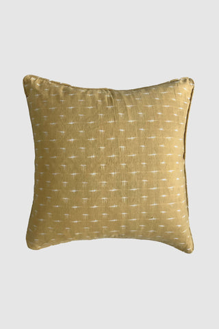 Double Ikat Ginger Square Cushion 55x55cm
