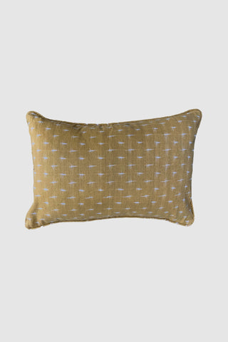 Double Ikat Ginger Lumbar Cushion 35x60cm