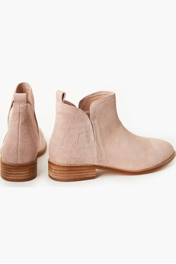 Douglas Blush Snake Suede Ankle Boot
