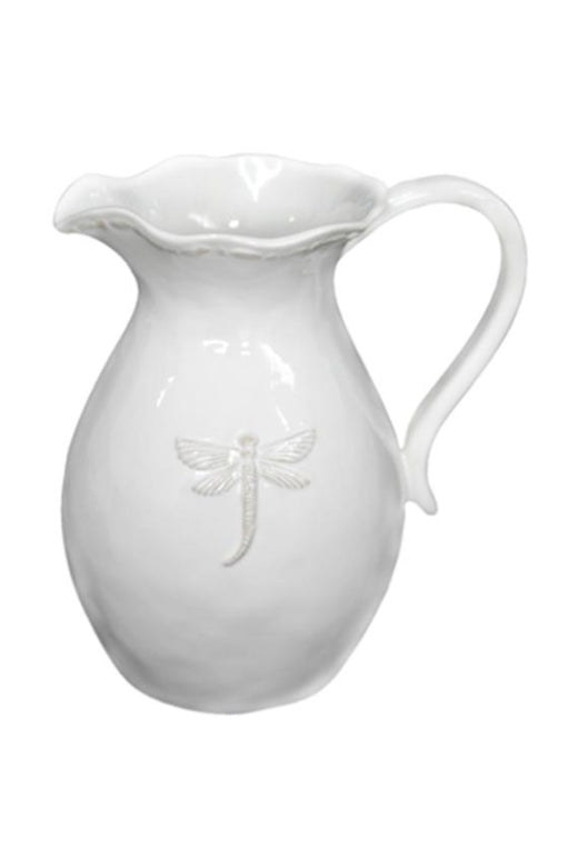 Dragonfly White Large Pitcher