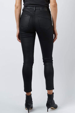 DCD Hi Black Coated Jeans