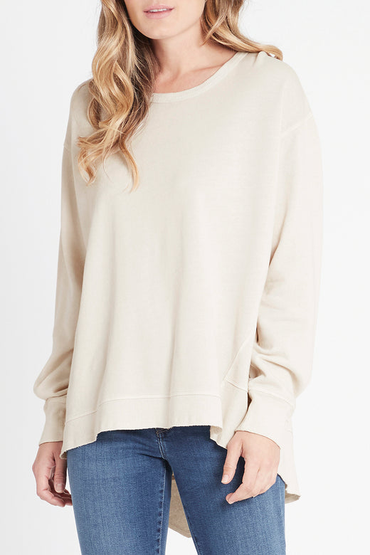 Dylan Relaxed Stone Sweater