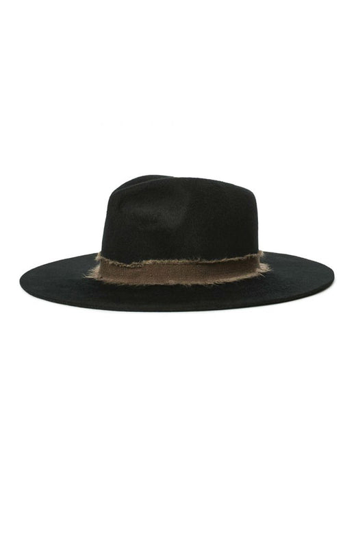 Ella Fedora Felt Black Brown Hat