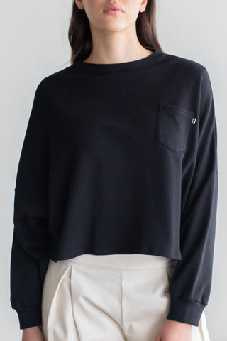 Entity Front Pocket Black Sweatshirt