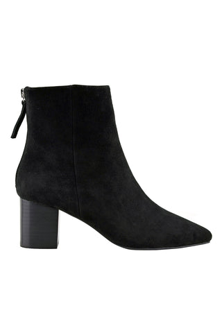 Florence Black Suede Boot