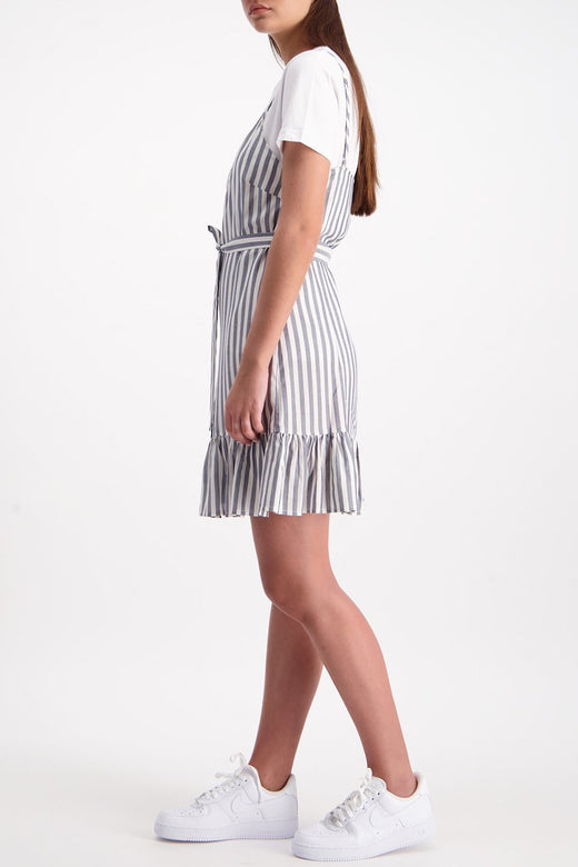 Farrow Wrap Navy Stripe Dress