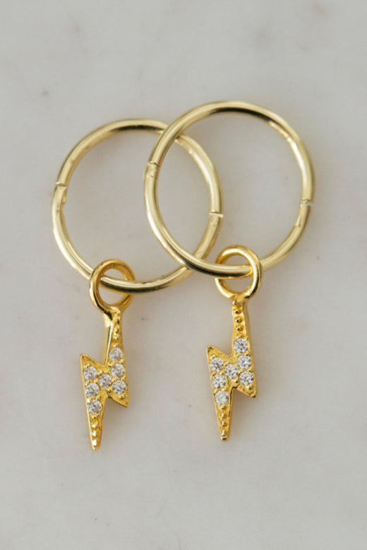 Flashy Sleeper Earrings Gold
