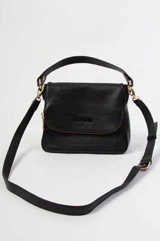For Keeps Black Crossbody Bag with Zipped Flap
