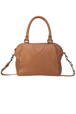 Force of Being Tan Leather Handbag