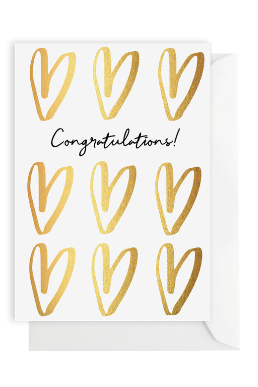 Congratulations Hearts Greeting Card