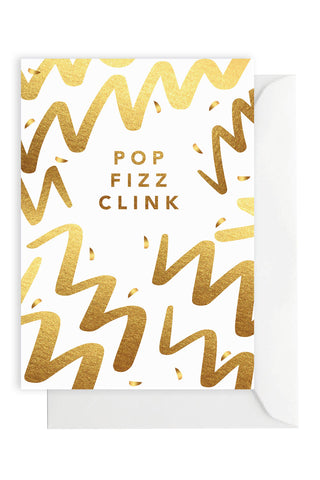 Pop Fizz Clink Gold Foil Gift Card