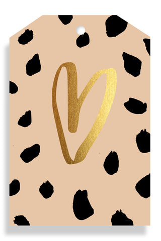 Leopard Heart Gift Tag