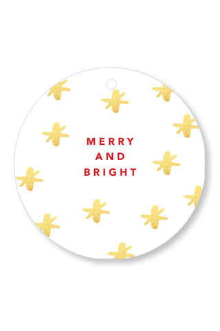 Round Merry + Bright Gift Tag
