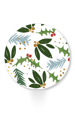 Round Holly Gift Tag