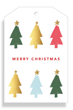 Merry Christmas Trees Gift Tag